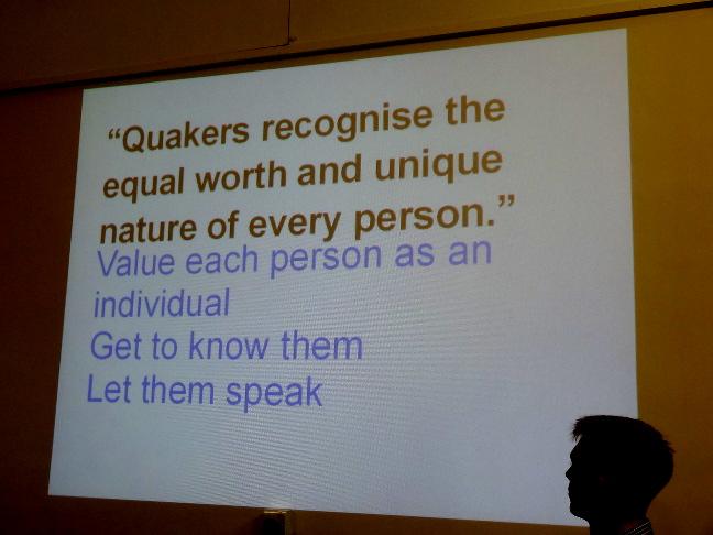 Quakers recognise...